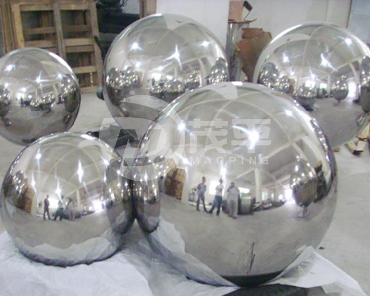 Stainless steel sphere sculpture4