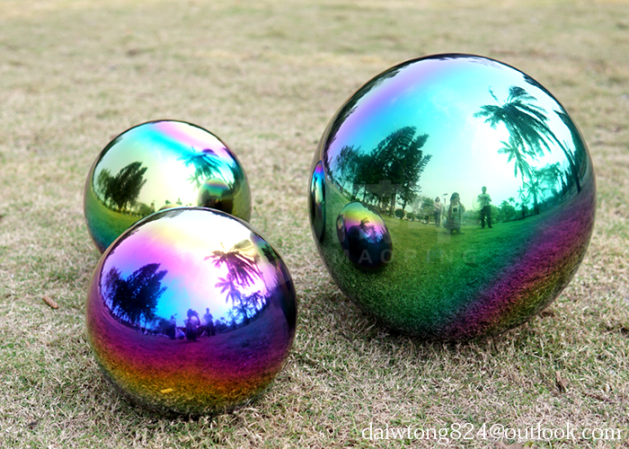 Colored steel ball