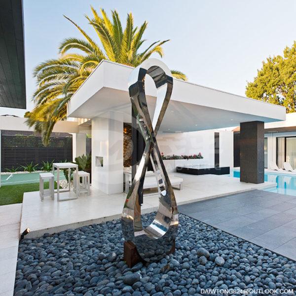 Mirror courtyard sculpture