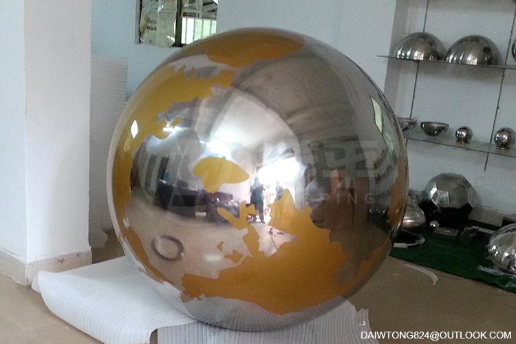 Stainless Steel Globe sculpture3
