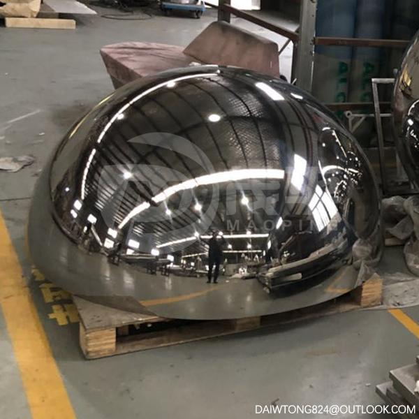 Large stainless steel hollow hemi sphere1