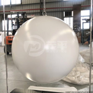 large stainless steel white sphere garden decorative sphere