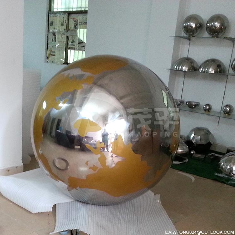 Outdoor Globe stainless steel sculpture