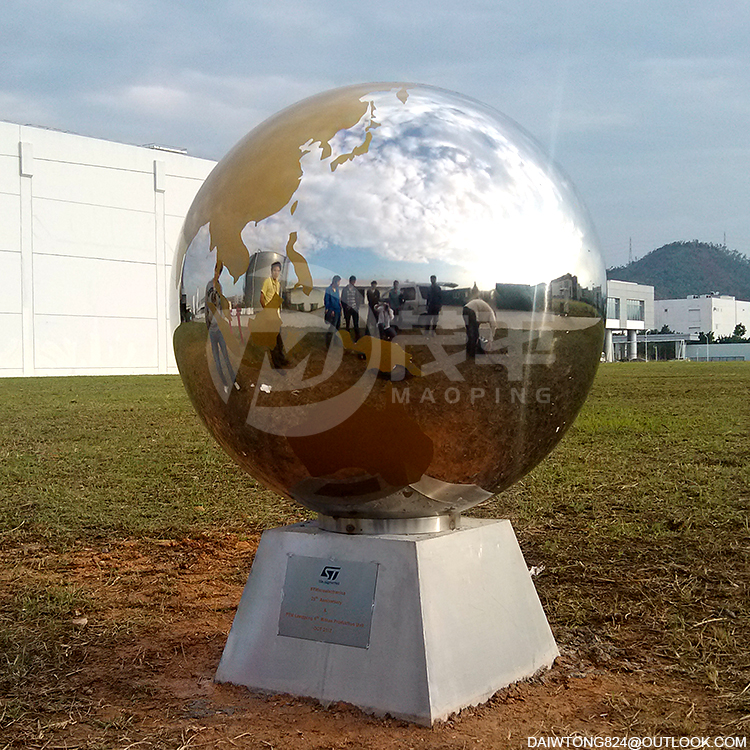 Outdoor Globe stainless steel sculpture