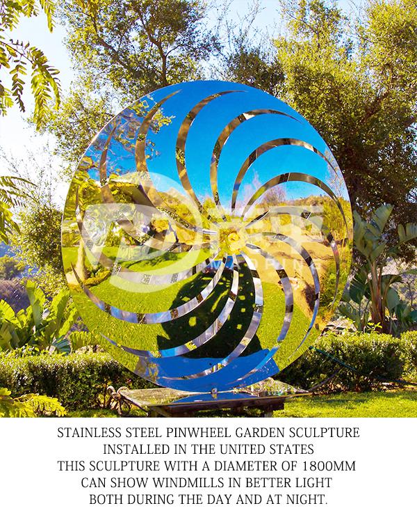 Pinwheel garden sculpture5
