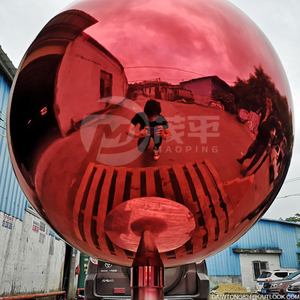 900mm Red stainless steel ball