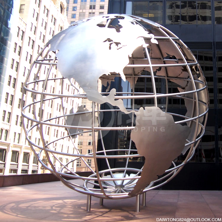 Stainless Steel Globes Sculptures