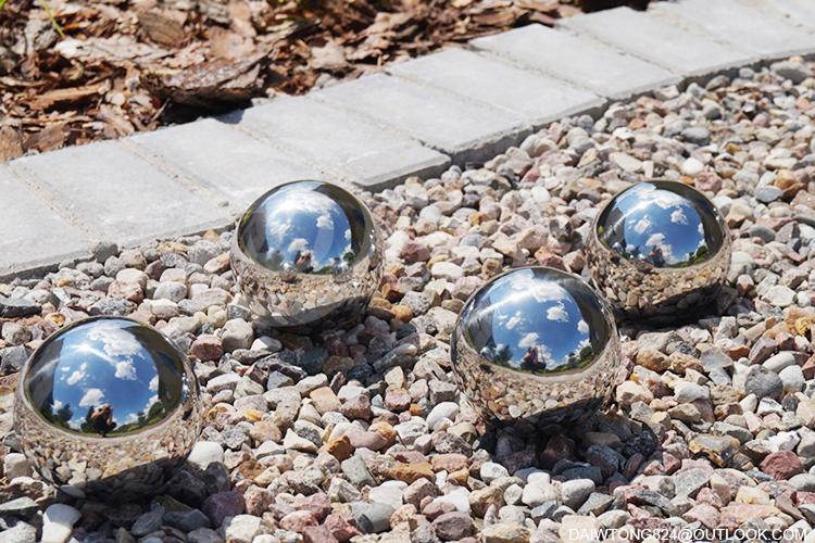 100mm 150mm 300mm garden decoration metal mirror observation ball gaze ball