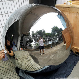 1400mm mirror polished large stainless steel hollow sphere