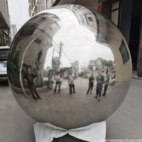 1900mm outdoor decorative metal steel sphere staring ball