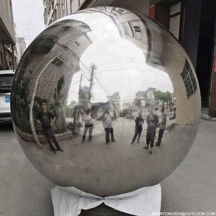 1900mm outdoor decorative metal steel sphere staring ball