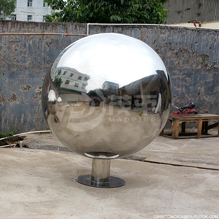 40 inch Large Stainless Steel Hollow Mirror sphere
