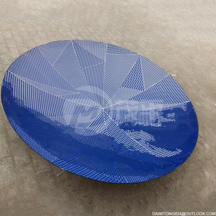 Modern indoor rhombus hexagonal stainless steel mirror concave disc