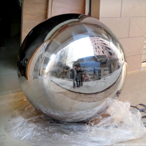 Stainless Steel Spheres Water Features Water fountain balls for garden