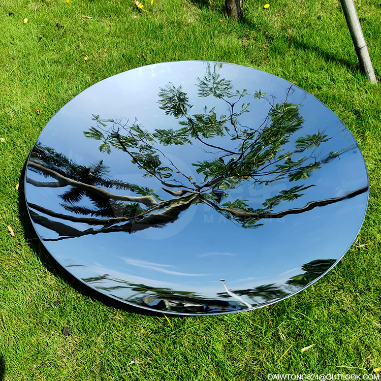 Mirror polished stainless steel concave convex disk hemisphere dome