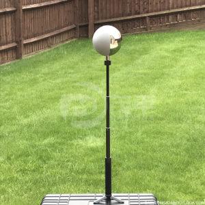 12.6cm vfx ball half mirror and half grey ball