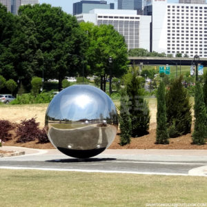 Outdoor City Public Metal Sphere Sculpture
