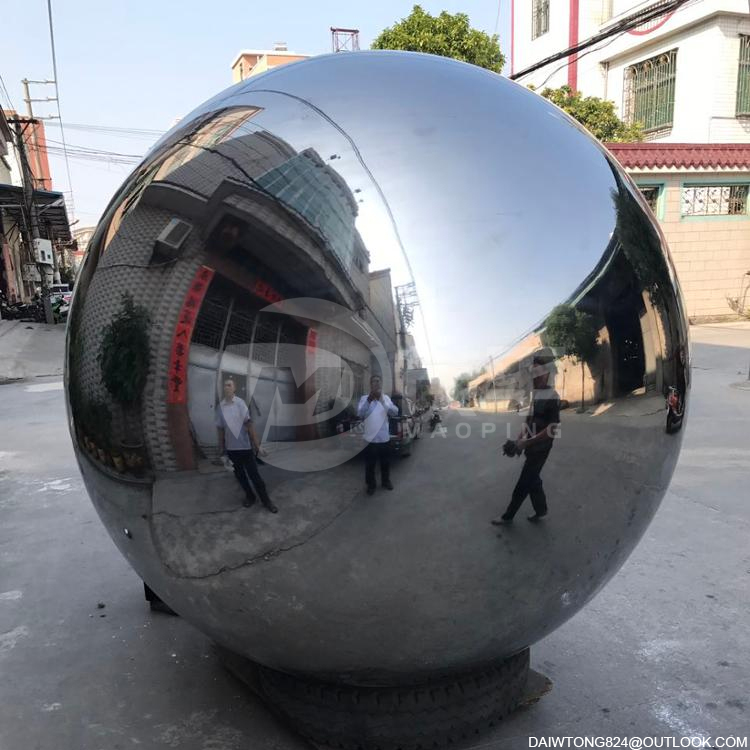 Public garden decoration Huge Stainless Steel Hollow Spheres