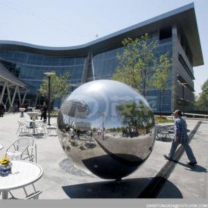 Public garden decoration Huge Stainless Steel Hollow Spheres