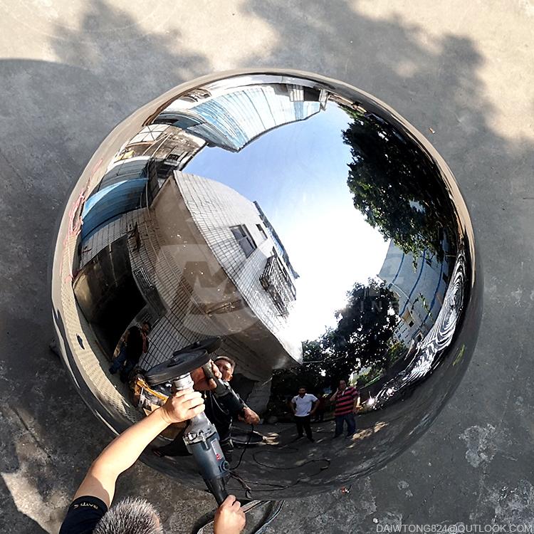 1600mm stainless steel huge hollow mirror sphere