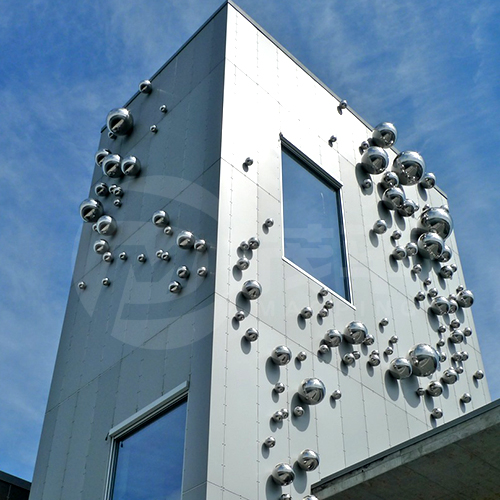 Stainless steel ball wall