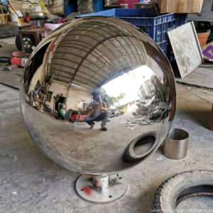 500mm 1000mm polished stainless steel hollow sphere with base