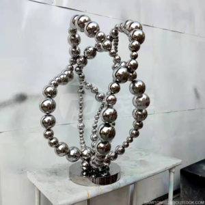 Custom metal mirror polishing combined stainless steel ball
