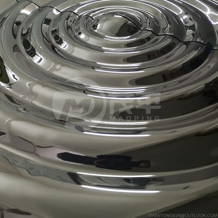 Stainless steel water ripple sculpture metal water wave