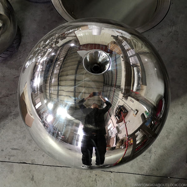 24 inch stainless steel sphere water feature