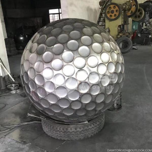 Stainless steel golf ball