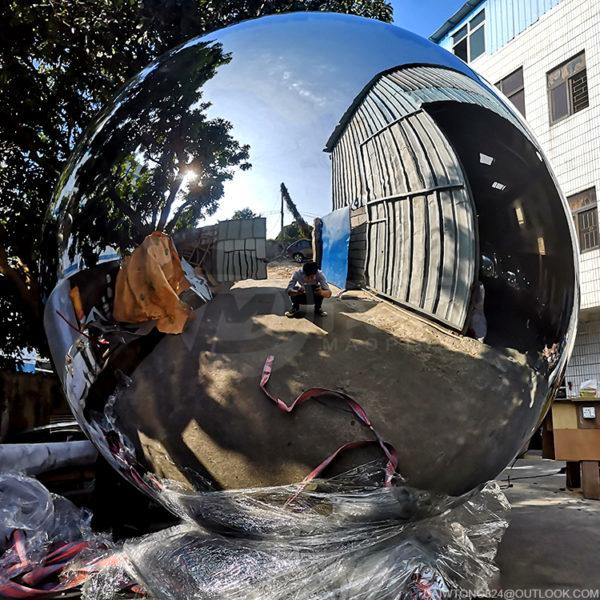 1800mm high polished large Metal Garden Gaze balls
