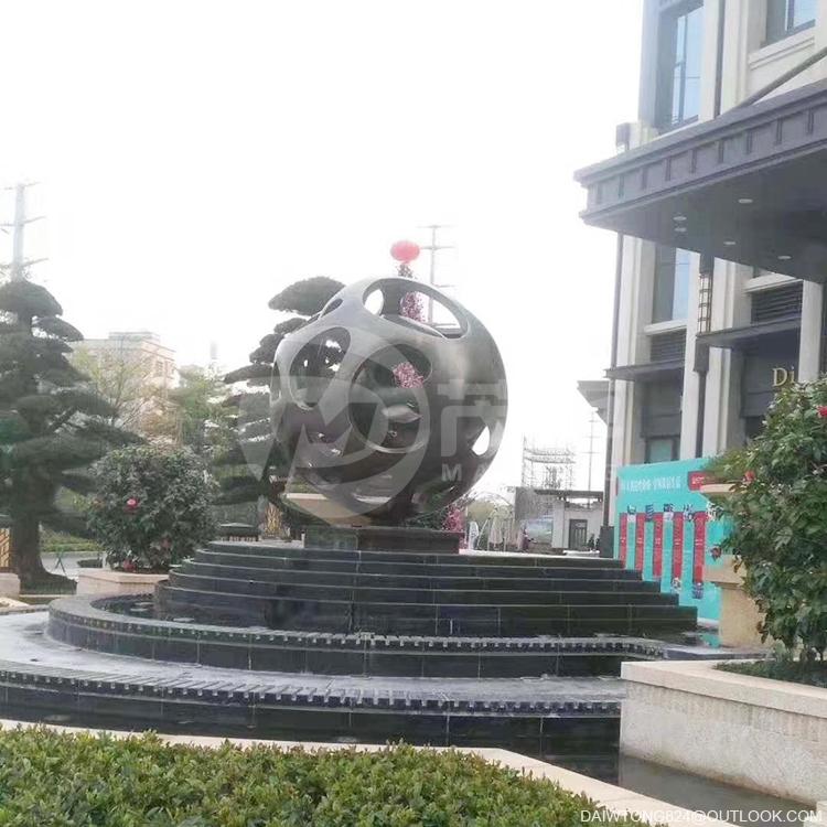 copper sphere sculpture art