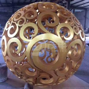 Garden Art Steel Hollow sphere sculpture