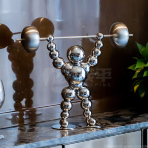 Ball sculpture decorative metal ornaments