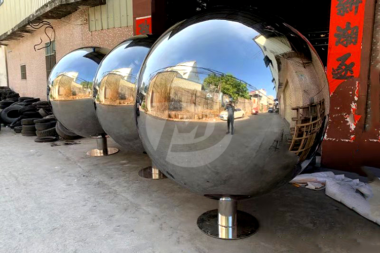3 giant stainless steel cricket spheres