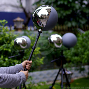 "10"" Chrome and Grey VFX Ball 18% reflective grey ball"