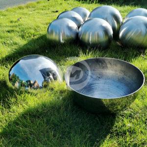Polished mirror Stainless Steel Hollow Hemisphere