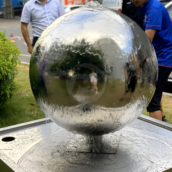 Stainless steel Water Feature sphere