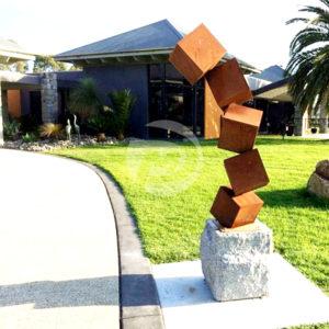 Outdoor Metal Garden Corten Steel Sculpture