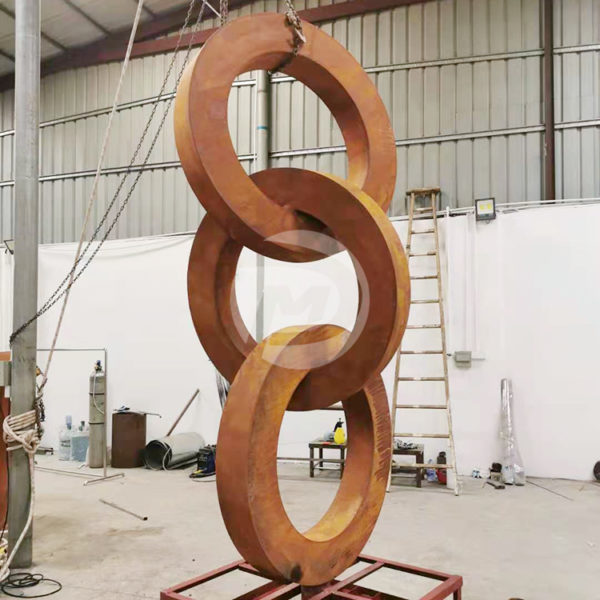 Rusty Garden Metal Art Corten Steel Sculpture