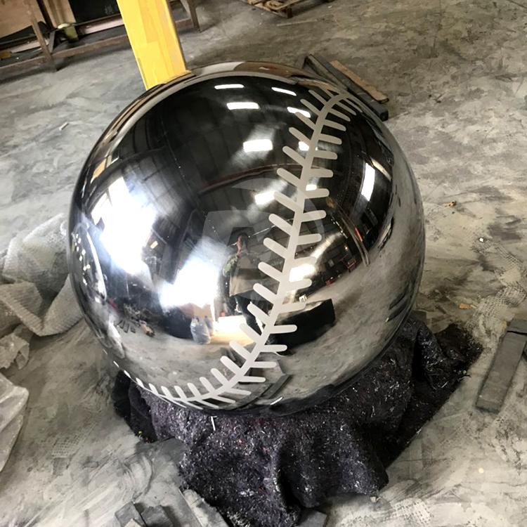 Stainless steel baseball