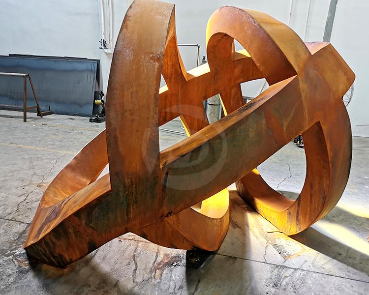garden rusty Corten Steel Sculpture