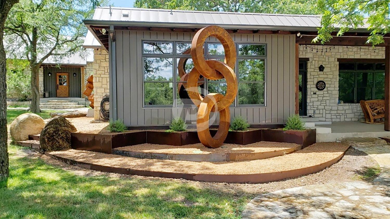 Circle Corten Steel Sculpture