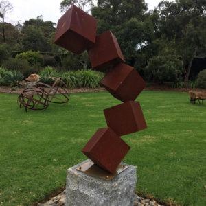 Modern garden sculpture garden decoration corten steel sculpture