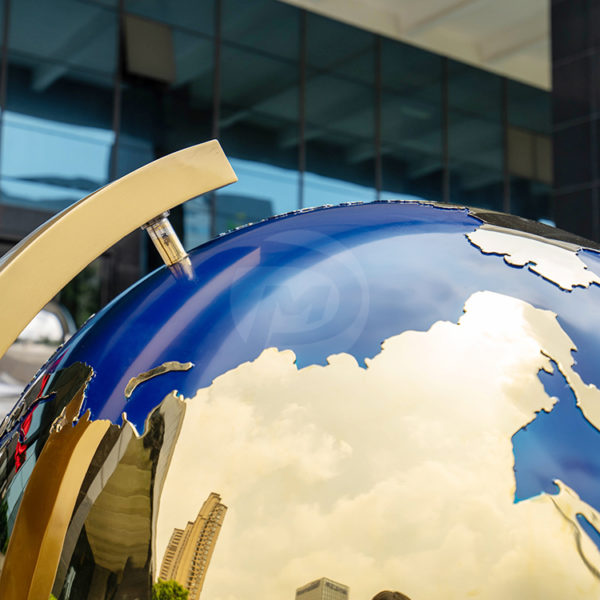 Metal Globe Sculptures