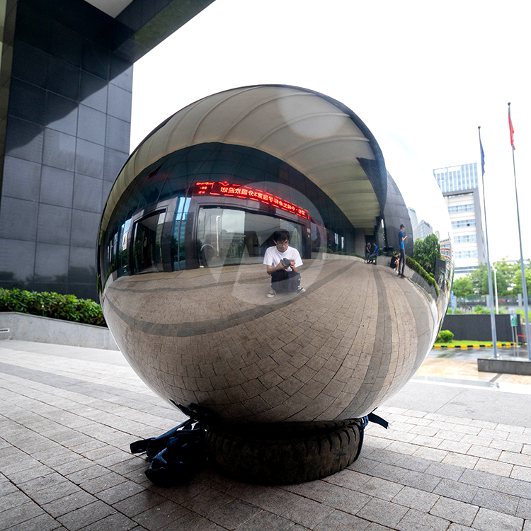 mirror Stainless steel hollow sphere large gazing ball