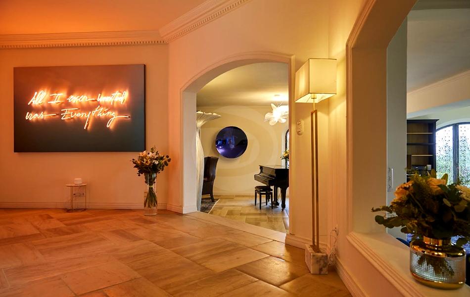 three mirror concave wall sculpture