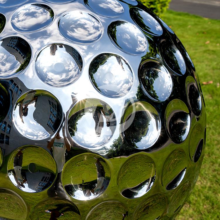 36 inch Stainless steel golf ball sculpture