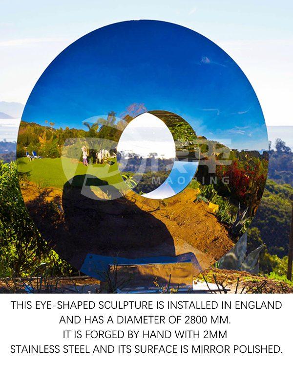 Eye shape sculpture1