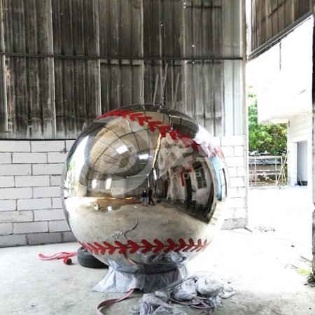 Large metal baseball-1